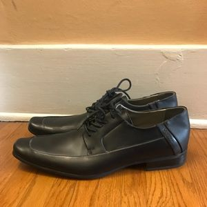 Calvin Klein Brent Moc Toe Leather Lace Up